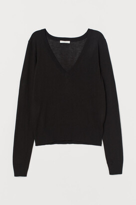 H&M V-neck Sweater - Black