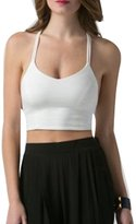 The Bazaar R Women's Support Criss-Cross Back Wirefree Removable Cups Yoga Sports Bra