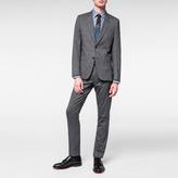 Paul Smith Men's Slim-Fit Grey Glen-Check Wool-Silk Suit