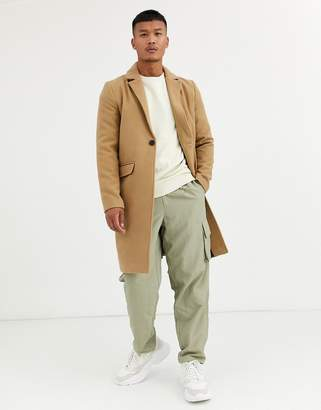 Good For Nothing overcoat in camel-Stone