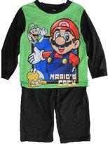 Super Mario Big Boys Cartoon Inspired Long Sleeved 2 Pc Pajama Set