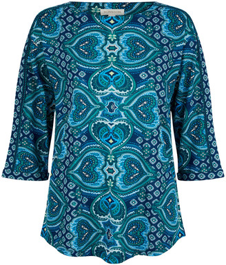 Under Armour Heart Print Top with Organic Cotton Blue