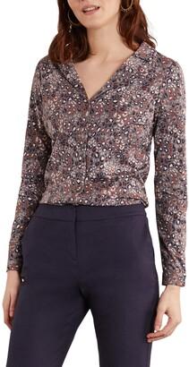 Boden Agnes Jersey Button-Up Shirt