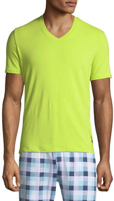 Psycho Bunny Men's Bright V-Neck Lounge T-Shirt