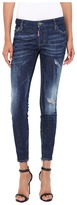 DSQUARED2 Flat Wash Medium Waist Skinny Jeans in Blue Women's Jeans