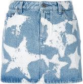 Givenchy star print denim skirt