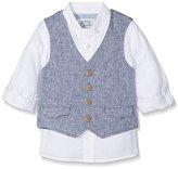 Mothercare Baby Boys Mb Sc Chambray Waistcoat And Textured Shirt Set Shirt