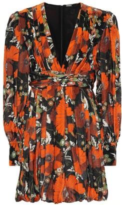 Dodo Bar Or Floral velvet minidress