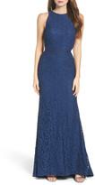 Mac Duggal Cutout Lace Gown