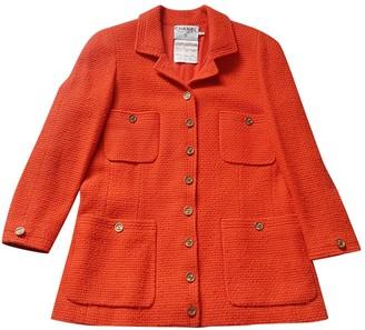 Chanel Orange Wool Coat for Women Vintage