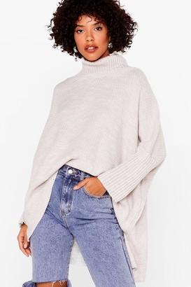 Nasty Gal Womens Rollin' With It Oversized Turtleneck Sweater - Cream