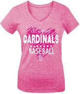 5th & Ocean St. Louis Cardinals Pink Hearts T-Shirt, Big Girls (4-16)