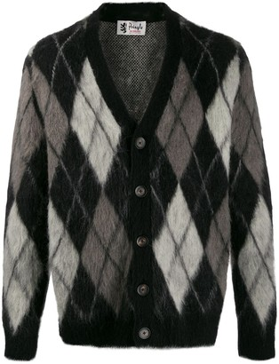 Pringle Argyle Mohair Cardigan