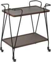 Casa Uno Bar Cabinets & Bar Carts Nicholas Trolley, Brown/Black