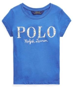 Polo Ralph Lauren Little Girls Floral Cotton Jersey Logo Tee