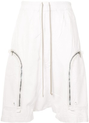 Rick Owens Zipped-Pocket Drop-Crotch Short