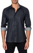 Jared Lang Men's Trim Fit Woven Sport Shirt