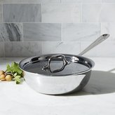 "Crate & Barrel All-Clad ® Stainless 12.75"" Weeknight Pan with Lid"
