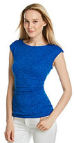Vince Camuto Side Ruched Lace Top