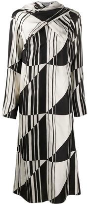 Jil Sander Geometric Motif Midi Dress