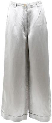 Jil Sander \N Silver Linen Trousers