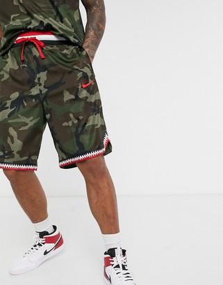 Nike Basketball dna camo shorts in khaki