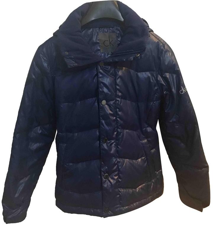 Calvin Klein Blue Coat for Women