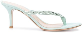Gianvito Rossi Embellished-Strap Sandals