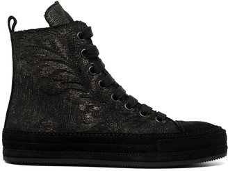 Ann Demeulemeester Embroidered High-Top Sneakers