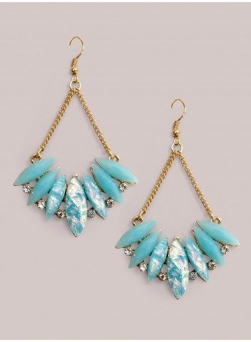 IGIGI Lois Earrings in Blue Opal