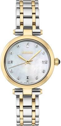 Seiko Women's Diamond Accent Two Tone Stainless Steel Watch - SRZ532