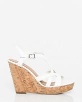 Le Château Leather T-Strap Wedge Sandal