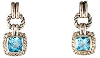 David Yurman Topaz & Diamond Renaissance Drop Earrings