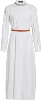 Fabiana Filippi Brilliant Trim Belted Shirtdress