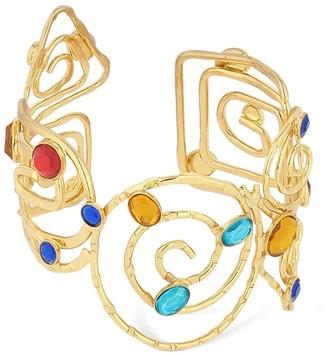 Rixo Cerse Cuff Bracelet W/ Acrylic Gemstones