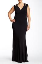ABS by Allen Schwartz Shoulder Cutout Dress (Plus Size)