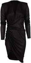 Alexandre Vauthier Long Sleeve Ruched Side Dress