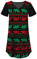 Black & Green Bear Nightgown - Women & Plus