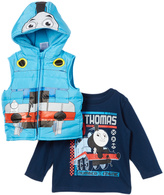 Children's Apparel Network Blue Thomas Vest & Tee - Toddler