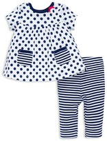 Offspring Infant Girls' Dot and Stripe Tunic & Leggings Set - Sizes 3-9 Months