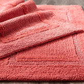 Pier 1 Imports Reversible Cotton Coral Bath Rug Collection