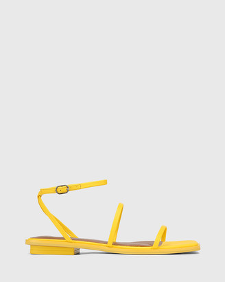 Wittner - Women's Yellow Sandals - Emmy Leather Flat Strappy Sandals - Size One Size, 37 at The Iconic