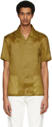 Helmut Lang Tan Silk Casual Fit Shirt