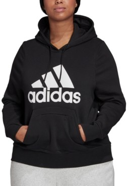 adidas Plus Size Logo Hooded Sweatshirt