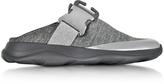 Christopher Kane Tonal Grey & Silver Fabric Slide Sneaker