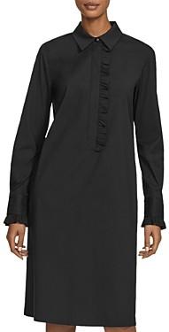 Lafayette 148 New York Fiona Ruffle Detail Shift Dress