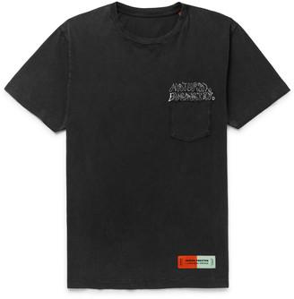 Heron Preston Embroidered Organic Cotton-Jersey T-Shirt