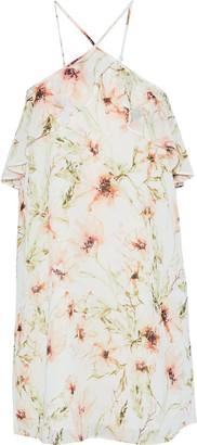 Haute Hippie Ruffle-trimmed Floral-print Chiffon Mini Dress