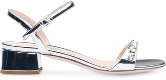 Miu Miu 35mm Crystal-Embellished Sandals
