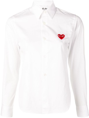 Comme des Garcons Embroidered Heart Shirt